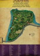 Mapa botanické v Peradeniya