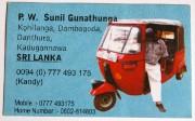 Vizitka tuk-tukáře Sunila
