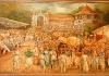 Chrám Buddhova zubu - nástěnný obraz
