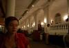 Venkovní restaurace v Galle Face hotelu